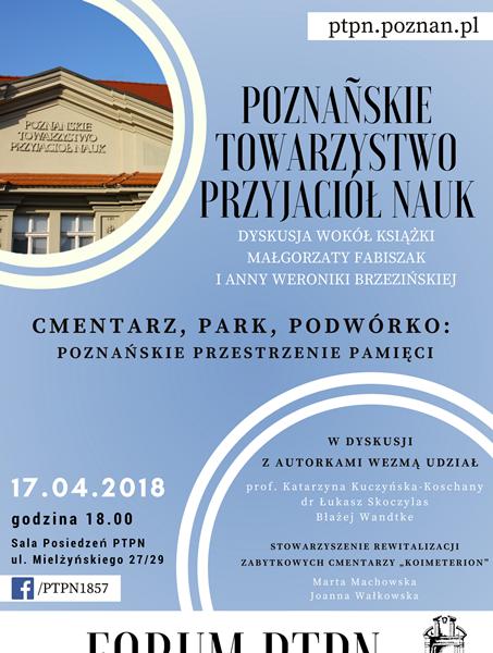 Cmentarz, park podwórko: dyskusja wokół książki Małgorzaty Fabiszak i Anny Weroniki Brzezińskiej