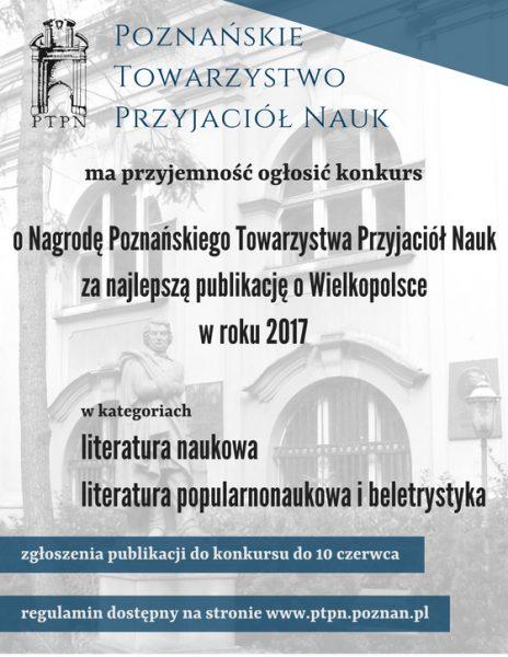 Konkurs na najlepszą książkę o Wielkopolsce w 2017 roku