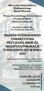 Wręczenie Nagród PTPN za najlepszą publikację o Wielkopolsce