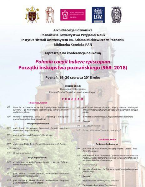 Początki biskupstwa poznańskiego (968–2018)