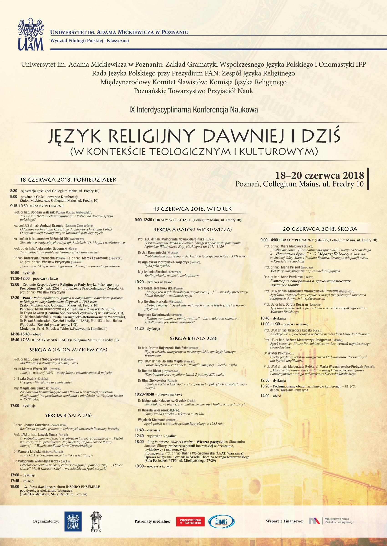 """IX Interdyscyplinarna Konferencja Naukowa """"Język religijny dawniej i dziś"""""""