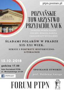 """""""Forum PTPN"""" - spotkanie z książką """"Śladami Polaków w Pradze"""""""