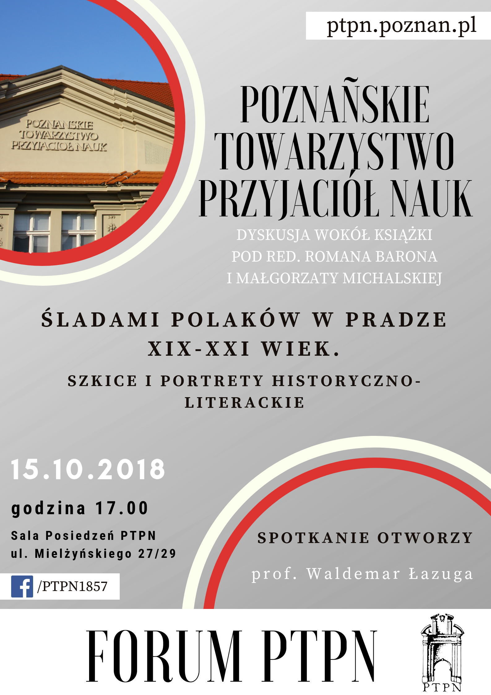 """""""Forum PTPN"""" – spotkanie z książką """"Śladami Polaków w Pradze"""""""