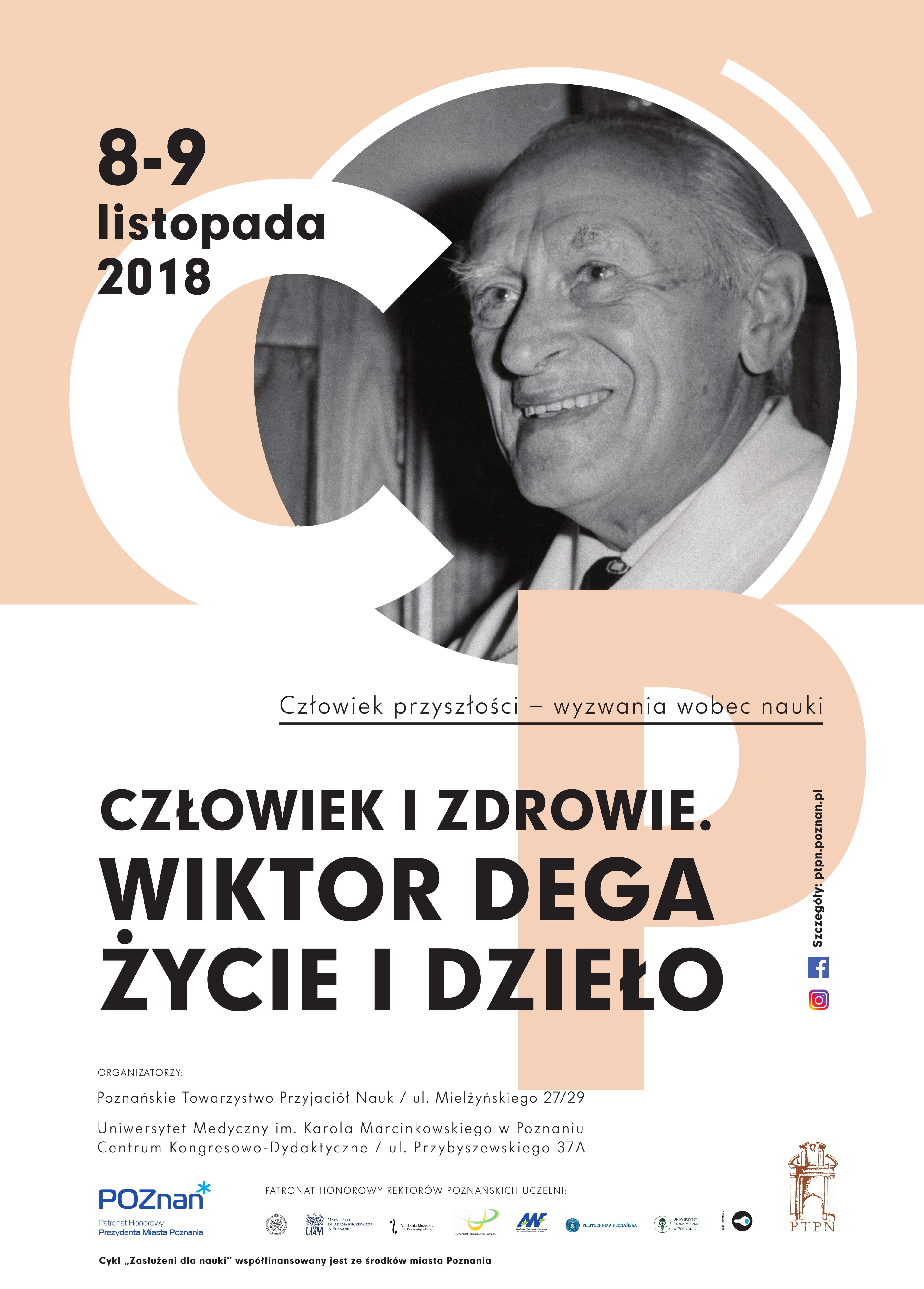 Ogólnopolska Konferencja Naukowa Człowiek i zdrowie. Wiktor Dega – życie i dzieło.
