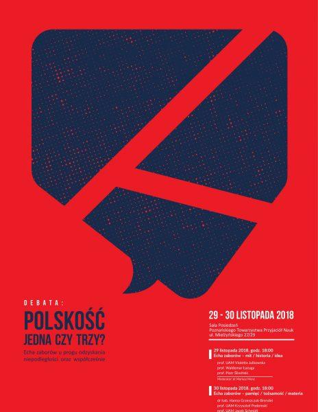 DEBATA. Polskość – jedna czy trzy? Echa zaborów u progu odzyskania niepodległości oraz współcześnie.