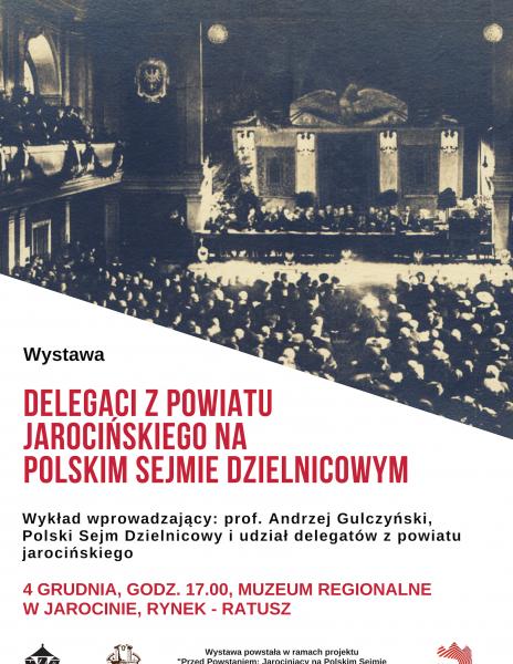 Delegaci z powiatu jarocińskiego na Polskim Sejmie Dzielnicowym