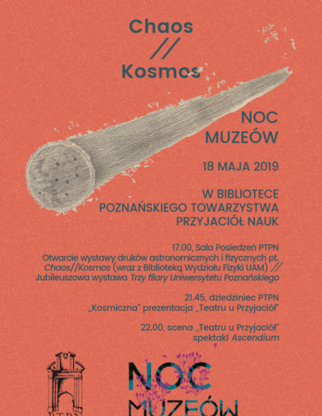 Noc Muzeów 2019 – Chaos // Kosmos