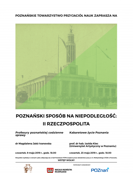 """Majowe wykłady z cyklu """"Poznański sposób na niepodległość"""""""