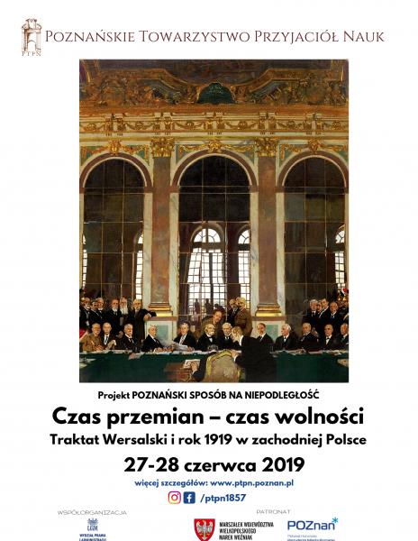 """Czas przemian, czas wolności – konferencja o """"Traktacie Wersalskim"""""""