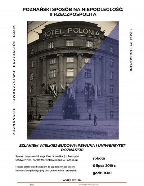 """Letni spacer edukacyjny """"Szlakiem Wielkiej Budowy: PeWuKa i Uniwersytet Poznański"""""""