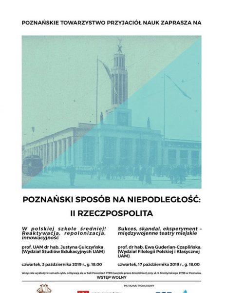 """Wykład """"W polskiej szkole średniej! Reaktywacja, repolonizacja, innowacyjność"""""""