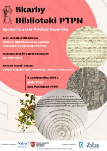Skarby Biblioteki PTPN - Spotkanie wokół Kopernika