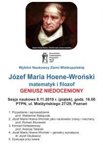 Józef Maria Hoene-Wroński - matematyk i filozof, geniusz niedoceniony @ ul. Mielżyńskiego 27/29