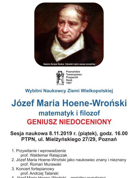 Józef Maria Hoene-Wroński – matematyk i filozof, geniusz niedoceniony