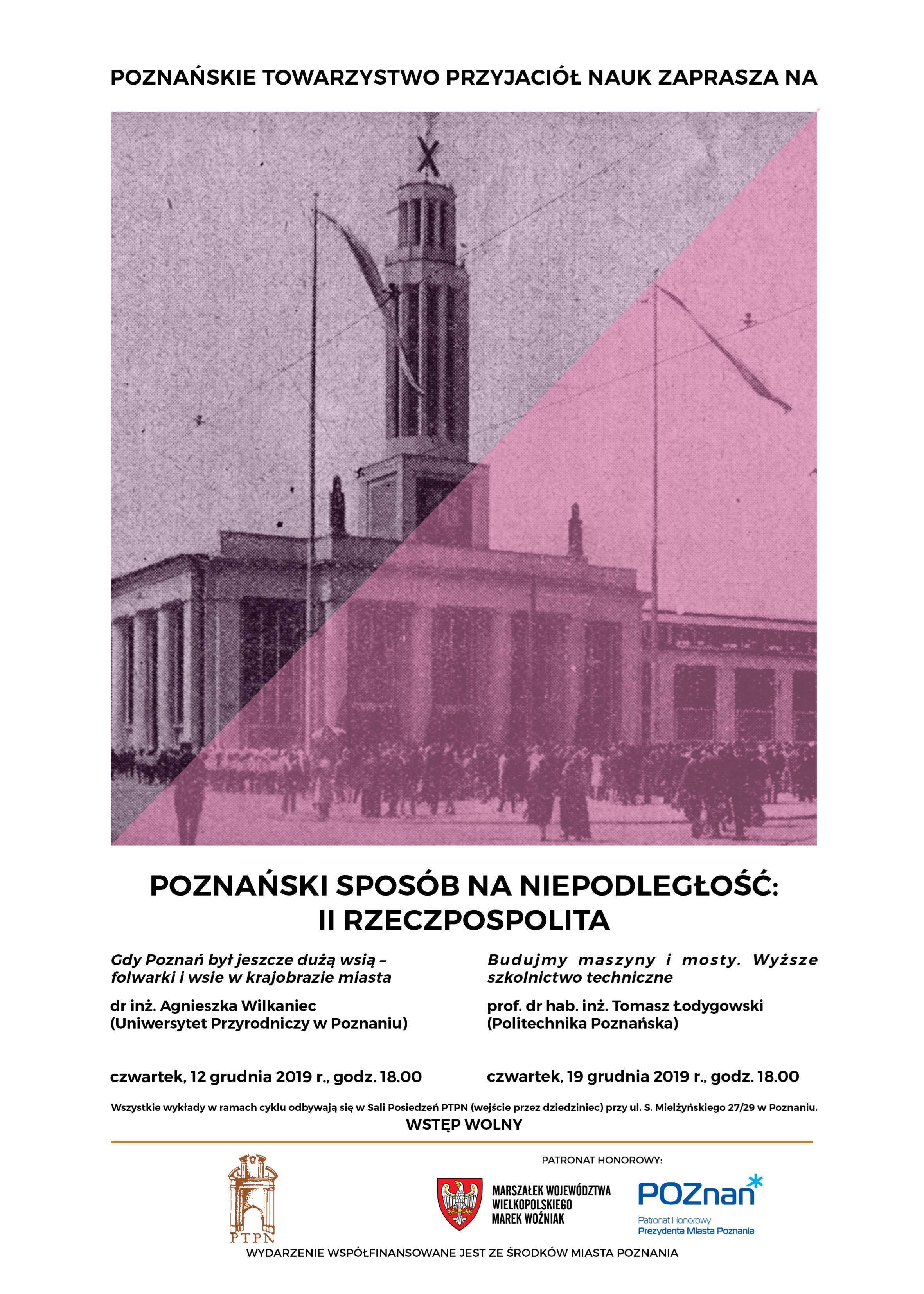 """""""Poznański sposób na niepodległość: II Rzeczpospolita"""" – wykłady grudniowe"""