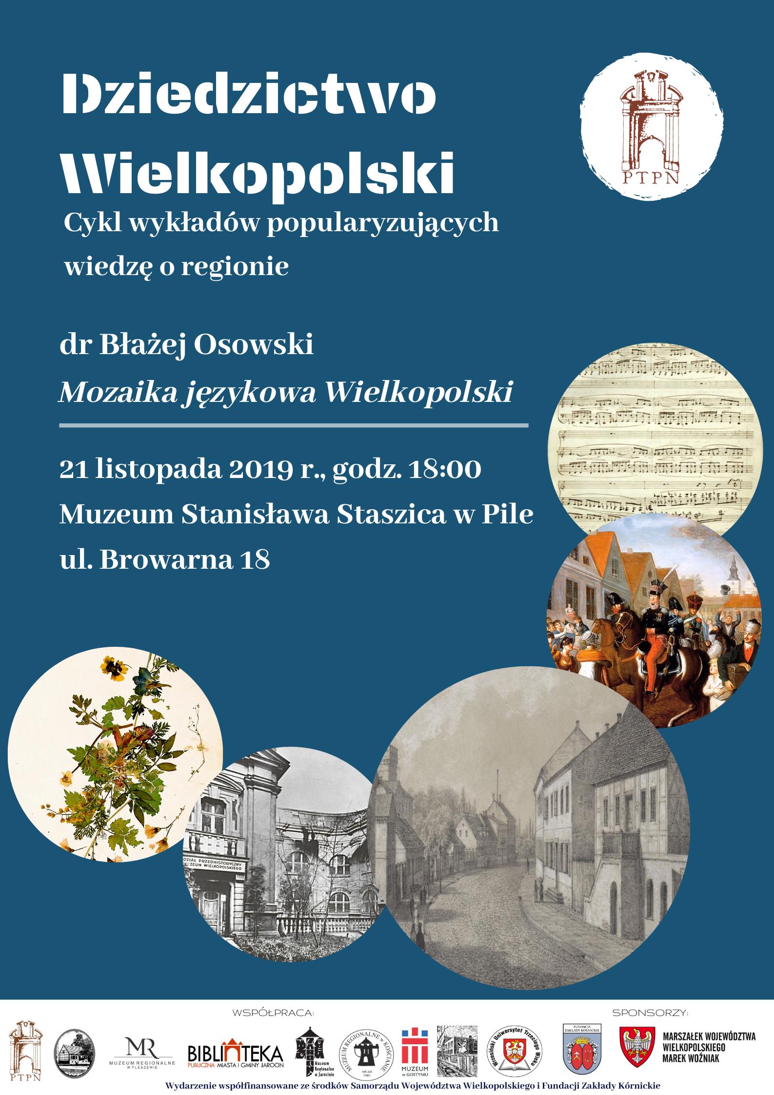 """""""Mozaika językowa Wielkopolski"""" – wykład zamiejscowy w Pile"""