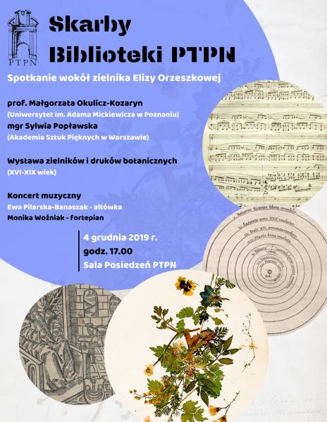Skarby Biblioteki PTPN – zielnik Orzeszkowej