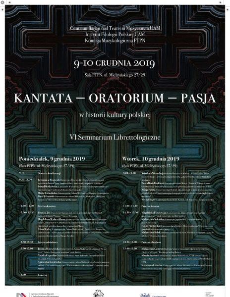 """Konferencja """"Oratorium – kantata – pasja"""""""