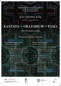 Oratorium – kantata - pasja @ ul. Mielżyńskiego 27/29