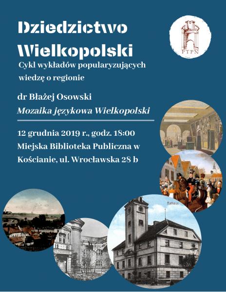 """""""Mozaika językowa Wielkopolski"""" – wykład zamiejscowy w Kościanie"""