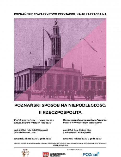 Niemieccy i polscy ewangelicy w Poznaniu, mieście nowoczesnego katolicyzmu – prof. UZ dr hab. Olgierd Kiec