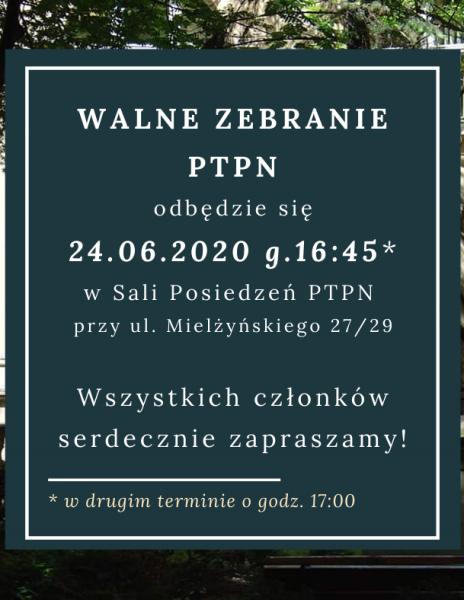 Walne Zebranie PTPN – 24.06.2020