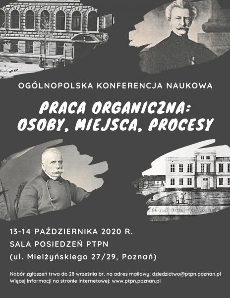Ogólnopolska konferencja naukowa – Praca organiczna: osoby, miejsca, ludzie