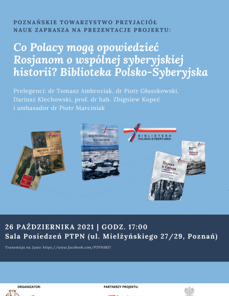 """""""Co Polacy mogą opowiedzieć Rosjanom o wspólnej syberyjskiej historii? Biblioteka Polsko-Syberyjska"""" – prezentacja projektu_26.10"""