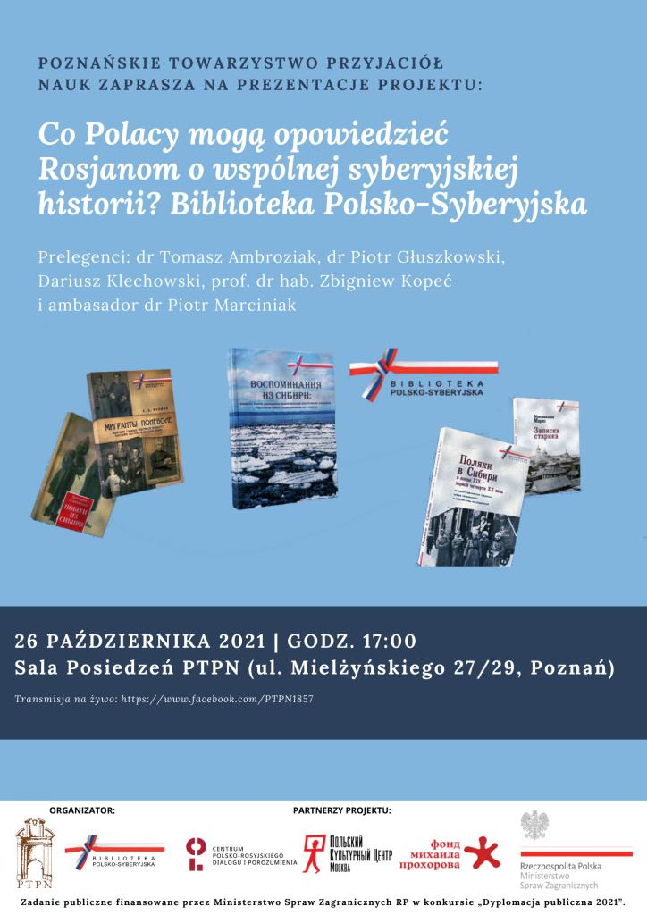 Co Polacy mogą opowiedzieć Rosjanom o wspólnej syberyjskiej historii? Biblioteka Polsko-Syberyjska